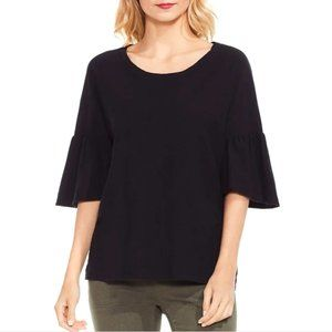 two vince camuto black bell sleeve top NWT
